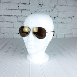 Joe's Jeans Aviator Wire Frame Sunglasses Gold